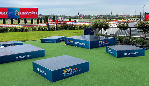 Cox Plate Stage Risers