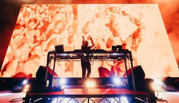 DJ kit at FatboySlim concert Melbourne