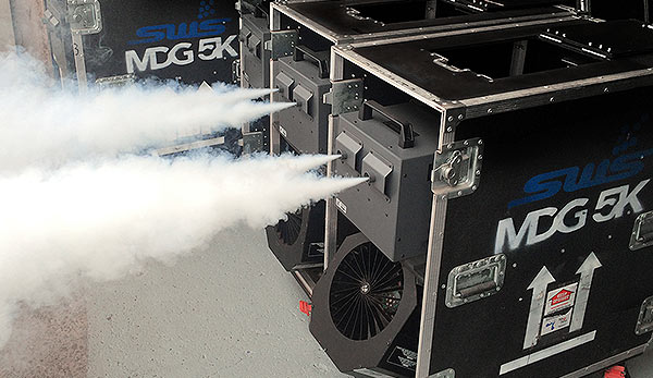 MDG 5K smoke machine in Road-Ready touring case